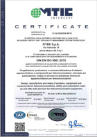 ISO 9001:2015 Management System Certificate